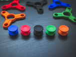 Bearing Caps for Fidget Spinner - Concave - Set
