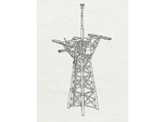 O.H. Perry Mast #3 in 1/200 scale