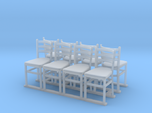 Wooden chairs  7. O Scale (1:48)