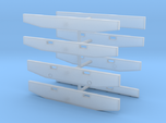 1/64th Semi Truck Bumpers, set of 8