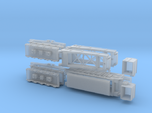Schienentiefladewagen Uaai 687.9 mit Trafo