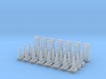 'N Scale' - Road Construction Cones & Barrels