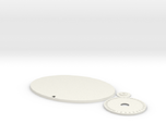 120mm by 92mm Oval Wound Tracking Base