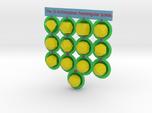 13 Archimedean Solids - colored