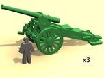6mm scale De Bange cannon 155mm 1877 (3)
