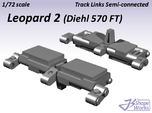 1/72 Leopard 2 Track Links semi connected