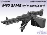 1/35+ M60 GPMG w/mount (3 set)