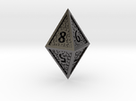 Hedron D8 Closed (Hollow), balanced gaming die