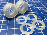 1/25th Scale Pie Crust Whitewall Slicks- Drag Tire