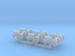 (1:450) Pack of 6 Tractors