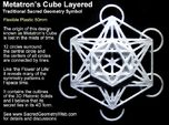 Metatrons Cube Layered 50mm