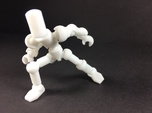 ModiBot Myke- 'Blanco' Microfigure Frame