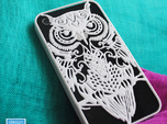 iPhone 4/4s case with owl design