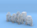 6 AssortedSpace Mechanical Robots
