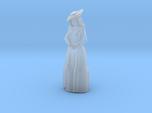 Woman Standing: Long Dress & Hat