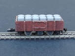 Wagon Plat/Tombereau Load Barrels - Nm - 1:160