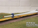 N Scale Wind Turbine Mounts - 3 Pack (Part 1 of 2)