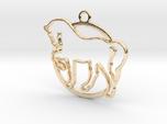 Horse & circle intertwined Pendant