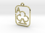 The Ace of Club continuous line pendant