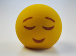 3D Emoji Smiling with Eyes Closed
