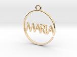 MARIA First Name Pendant