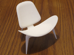 "Steelcase Shell Chair 2.8"" tall"