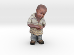 Skeptical African Child full figure