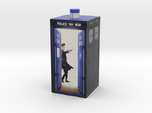 Matt Smith in Tardis made on Second Life full