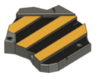 Black and Yellow Plate For Models Bases