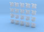 20 28mm Custom Shoulder Pad 3D Jester Skull