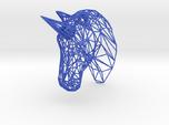 Wire Unicorn Head Statue: 6 Inch