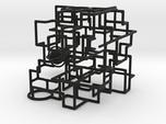 """Bare Bones"" - 3D Rolling Ball Maze in Clear Case("