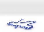 Floral Vine Necklace w/ Toggle Clasp in Nylon