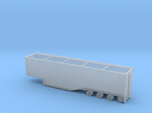 N scale 1/160 Woodchip trailer 53ft possum-belly