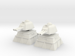 28mm Lascannon Turret and Bunker (x2)