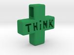 """Think Positive"" Keychain"