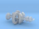 1/16 Modern 11.6 Inch Diam 6 Piston Disk Brake Set