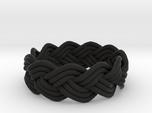 Turk's Head Knot Ring 3 Part X 11 Bight - Size 6