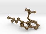 Psilocybin Molecule Keychain Necklace