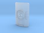 1 shield with gauntlet motif