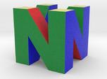 """N64 Logo - 2"""" Cube Desk Object"""