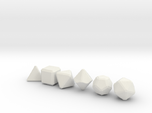 Blank Gaming Dice with Bevels