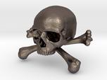 58mm 2.28in Skull & Bones Skull Crane Schädel