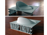 Alcubierre Warp Drive with 3D text
