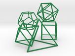 Five Platonic Solids (500 cc)