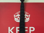 Articulated Necktie, Clips on to Your Top Button!