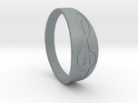 Size 7 M G-Clef Ring Engraved