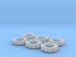 1/64 Wheel Weights Outer (6 Pieces)