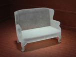 1:48 Queen Anne Wingback Settee
