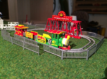HO scale Rio kiddie carnival train ride